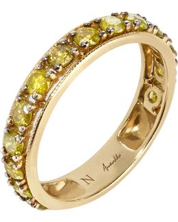 Dusty Diamonds 18ct Yellow-gold And Diamond Eternity Ring