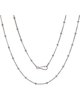 Classic Saturn 18ct White-gold Short Chain