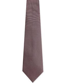 Mens Pink Textured Luxury Silk Tie