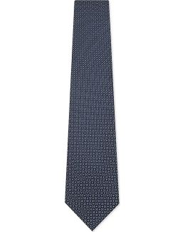 Mens Embellished Luxury Micro Foral Silk Tie