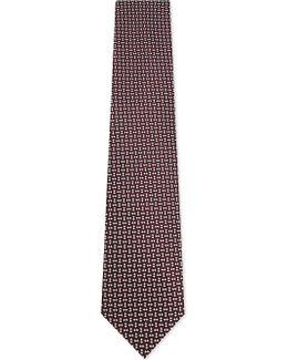 Diamond And Squares Silk Tie