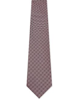 Mens Navy Floral Luxury Abstract Silk Tie