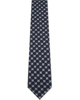 Mixed Medallion Silk Tie