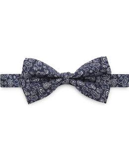 Paisley Print Silk Bow Tie
