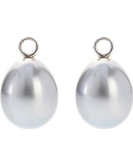 Classic Baroque 18ct White-gold And Pearl Earring Drops
