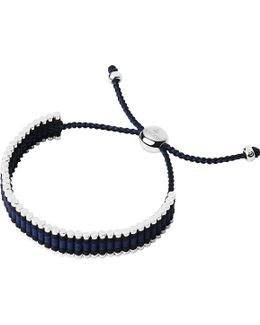 Ascot Sterling Silver And Cord Friendship Bracelet