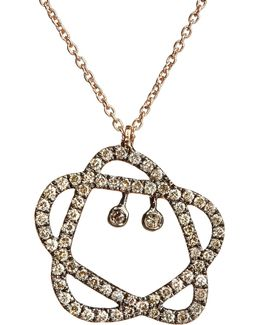 Sugarplum 18ct Rose-gold And Diamond Pendant Necklace