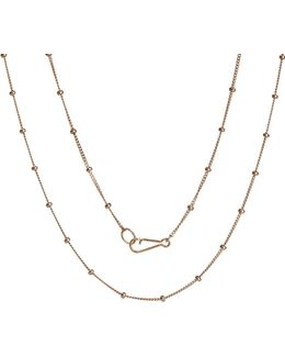 Saturn 18ct Rose Gold Chain