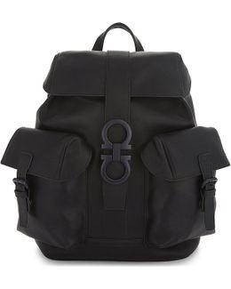 Gancio Trott Leather Backpack