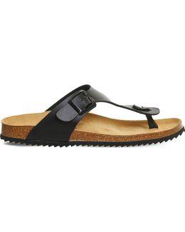 Identity 2 Leather Flat Sandals