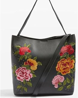 Safire Floral-embroidered Tote