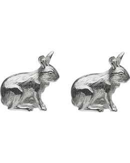 Tortoise And Hare Sterling Silver Cufflinks, Men's