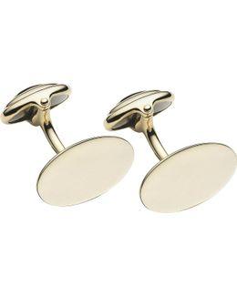 Classic Oval Gold T-bar Cufflinks