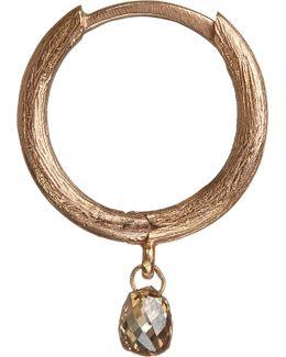 Hoopla Diamond 18ct Rose-gold Hoop Earring