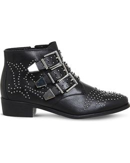 Lucky Charm Leather Ankle Boot