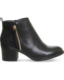 Lola Double Zip Ankle Boots