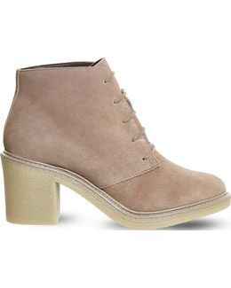 Lulu Lace-up Suede Ankle Boots