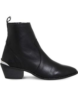 Leighton Unlined Leather Western Boots