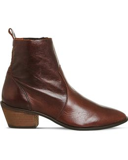 Leighton Leather Ankle Boots