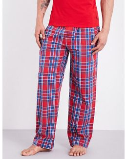 Checked Cotton-poplin Pyjama Bottoms