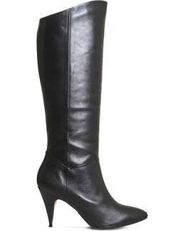 Kiss Knee-high Leather Boots