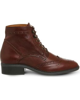 Limerick Brogue Lace Up Boot