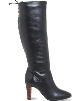 Knicks Block Heel Knee High Boots