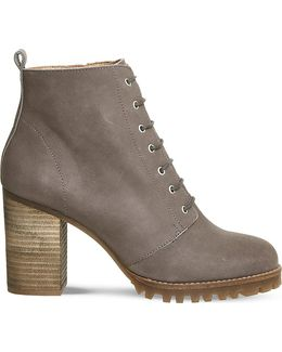 Loose Lipped Leather Ankle Boots