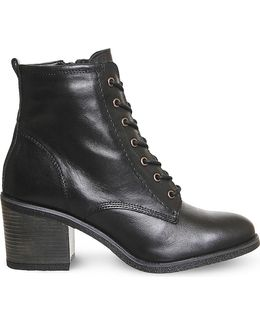 Latch Leather Ankle Boots