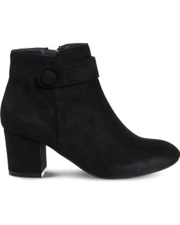 Libby Button Detail Ankle Boots