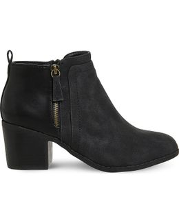 Lucy Side Zip Detail Ankle Boots