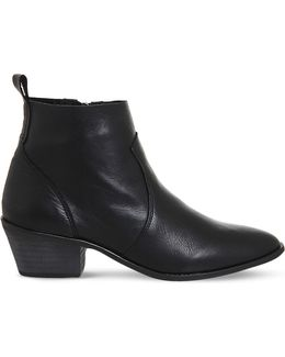Leigh Leather Ankle Boots