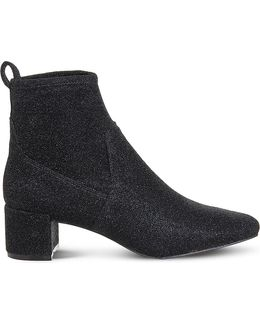 Glitter Stretch Ankle Boots