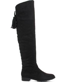 Knock Knock Faux-suede Over-the-knee Boots
