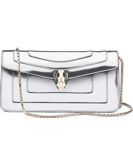 Serpenti Forever Metallic Leather Shoulder Bag