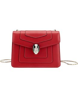 Serpenti Forever Leather Flap Bag