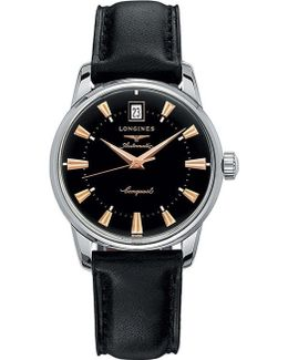 L2.800.4.23.2 Heritage Stainless Steel And Alligator Leather Watch