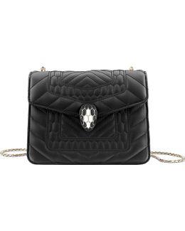 Serpenti Forever Leather Shoulder Bag