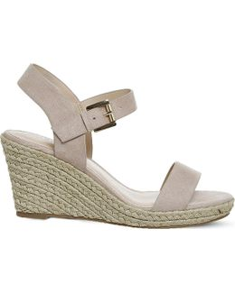 Marbs Faux-suede Espadrille Wedges