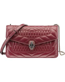 Serpenti Forever Scaglie Quilted-leather Shoulder Bag