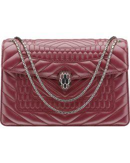 Serpenti Forever Scaglie Leather Shoulder Bag
