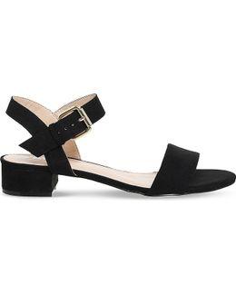 Morgan Faux-suede Block Heel Sandals
