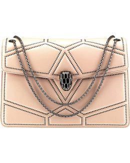 Serpenti Forever Stardust Leather Shoulder Bag