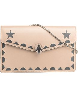 Serpenti Forever Star Studs Leather Bag