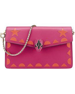 Serpenti Forever Star Studs Leather Mini Bag