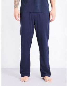 Logo-embroidered Cotton-jersey Pyjama Trousers