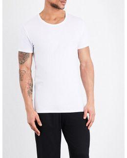 Stretch-cotton T-shirt Set