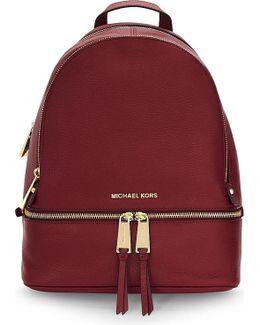 Rhea Small Leather Backpack