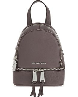 Rhea Extra-small Grained Leather Backpack