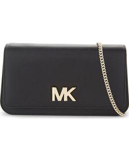 Michael Kors Ladies Feminine Mott Leather Clutch